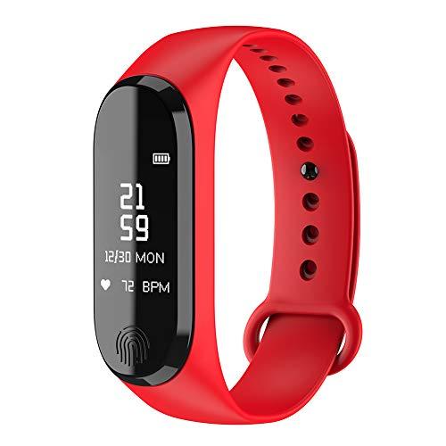 9302sonoaud Braccialetto Intelligente di Sport di Bluetooth di Polsino del Monitor di Pressione sanguigna di frequenza cardiaca Rosso
