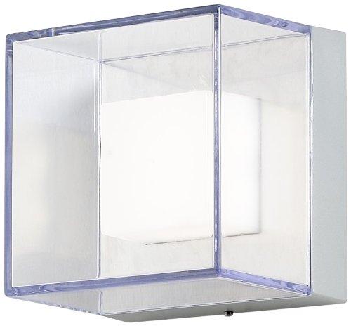 Gnosjö Konstsmide Sanremo Außenleuchte, Aluminium, Integriert, grau, 14 x 11 x 14 cm Die Ip-flush