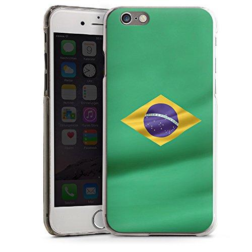 Apple iPhone 4 Housse Étui Silicone Coque Protection Brésil Drapeau Brésil CasDur transparent