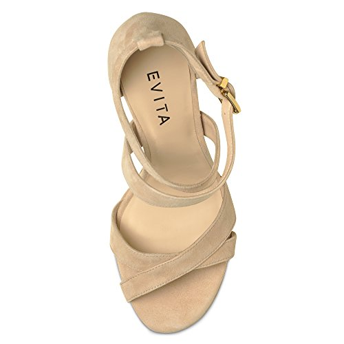 CARMEN sandales femme daim nu