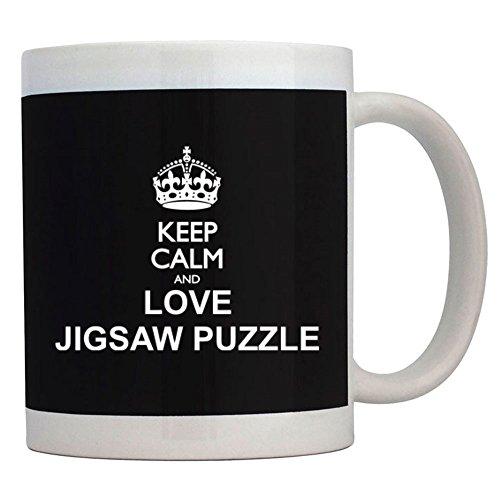 Teeburon Keep calm and love Jigsaw Puzzle Taza