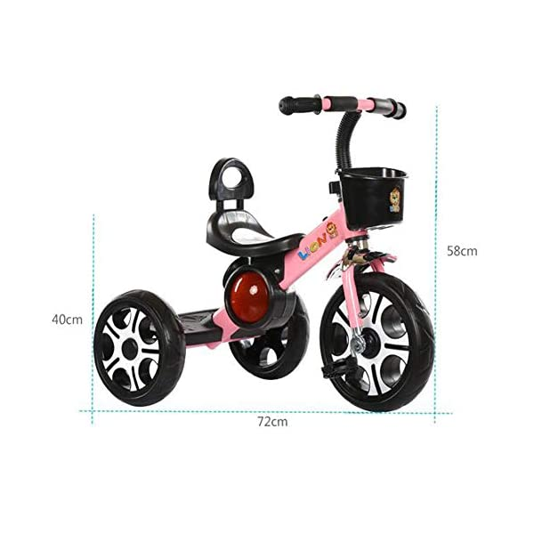 TX 3-6 Years Old Baby Tricycle Children Boys Girls 3 Increase Sized PU Wheel Toddler Musical Pedal Bicycle,Pink TX Widened to increase seat, the baby sitting more comfortable. Non-slip grip, making use of rubber, non-toxic, direct touch. Designed to increase pedal, increase the wheel design. 2