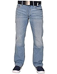 Smith and Jones Mens Enrico with Belt Boot Cut Regular Jeans