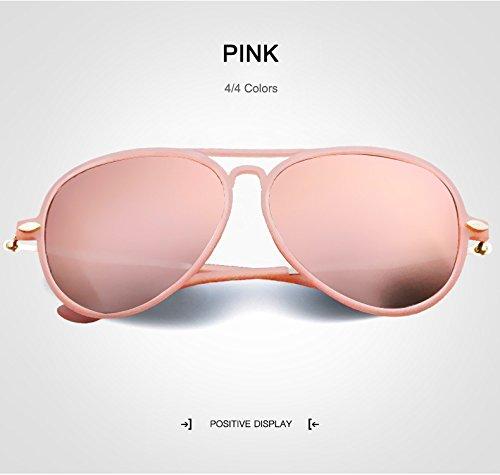 Ruanyi Kind-Sonnenbrille, Mode-Polaroid Sonnenbrille-Schutzbrillen UV400 Spiegel-Sonnenbrille für Kinder (Color : Pink)