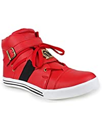 Appe Men's Red Synthetic casual shoes:APPE-0032RED-6