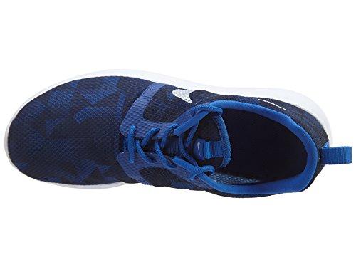 Nike Rosherun Scarpe da Corsa, Unisex Bambino GM RYL/MTLLC SLVR-MID NVY-WHIT