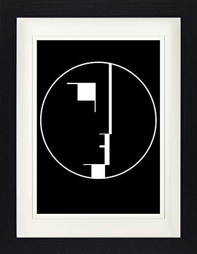 1art1 116939 Oskar Schlemmer - Staatliches Bauhaus, Logo, 1922 Gerahmtes Poster Für Fans Und Sammler 40 x 30 cm