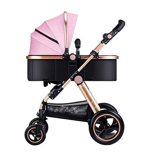 YLZT Baby-Kinderwagen können sitzen kann liegen Baby-Wagen Baby-Trolley/0-36Months/Explosion-proof Rad/alle Jahreszeiten verwendet Werden können,Rosa