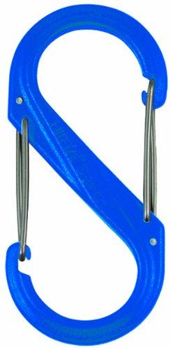 NITE IZE S-BINER PLASTIC SIZE #0-2PK BLUE
