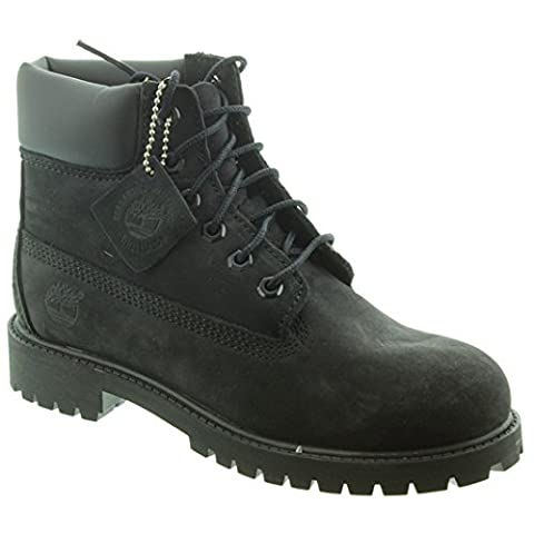 Timberland - Kids Authentic 6 Inch Lace Boots in Black, 6 UK Youth