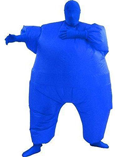 Aufblasbares Fett Dick Kleid Fasching Zweite Haut Anzug Karneval Luftschiff Kostüm Blau