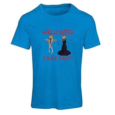 N4028F T-shirt femme Fête d'Halloween (XX-Large Bleu Multicolore)