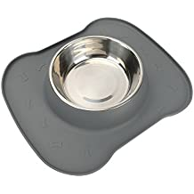 Safety pet dog feeder bowl-pampering PM1202002 (2017 hot selling)silicone pet single bowl,for large middle small dog ,cat pet . including 1 set stainless steel bowl ,1 No Spill Silicone Mat and Non-Skid Silicone Bowl 23 oz ,heavy-duty,easy clean. 24-hour customer support. 30-day money back guaranteed. 2-year warranty .