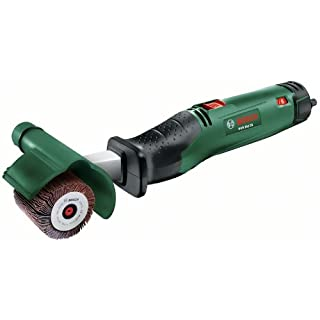 Bosch DIY Schleifroller PRR 250 ES, Aufnahmeschaft, Schleifhülse 60 mm , 2x Lamellenrolle 60/10 mm, Schutzabdeckung, Koffer (250 W, Schleifrollenbreite: 10-60 mm, Körnung 80)