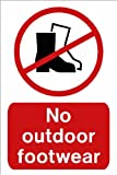 Schwimmbad Schild: keine outdoor Schuhe AA5 Größe