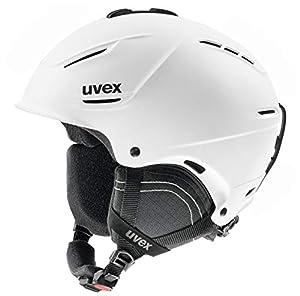 Uvex Erwachsene P1us 2.0 Skihelm, White mat, 59-62 cm