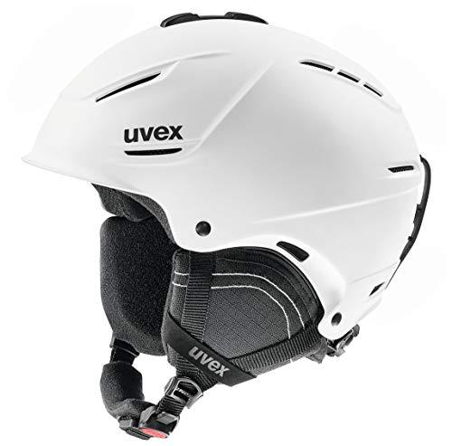 Uvex Erwachsene P1us 2.0 Skihelm, White mat, 55-59 cm