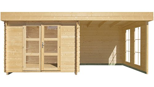 luoman-set-gartenhaus-lillevilla-485-ecolounge-bxt-200x200-cm-mit-anbau-200-cm-breit-rueckwand-natur-2