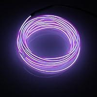 Lerway - Tira de luz de neón inalámbrica de 5 m, flexible, luces LED, guirnalda luminosa para navidad, fiesta, decoración de coche, cocina, exterior, discoteca, color morado