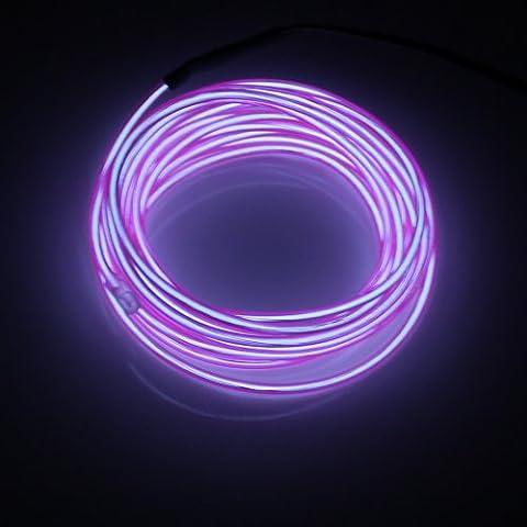 Lerway ® Lila, 5 M EL Wire Draht, LED Neon Kabel Leuchtet Tron Electroluminescent Beleuchtung Licht, Mit Trafo, Weihnachten, Hochzeit Nacht Party, Neujahr Kostüm Rave, Schlafzimmer (Weihnachten Seil Spielzeug)