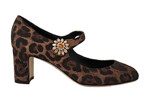 Dolce & Gabbana - Damen Schuhe - Pumps Brown Leopard Brocade Crystal Pumps