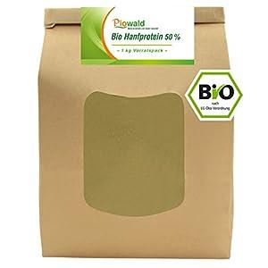 BIO Hanfprotein – 1 kg Vorratspack | Pflanzliches Eiweißpulver von Piowald | Vegan und Glutenfrei | Protein Pulver, Eiweisspulver aus Hanfsamen für deinen Protein Shake