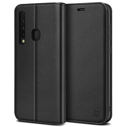 BEZ® Handyhülle für Samsung Galaxy A9 2018Hülle, Tasche Kompatibel für Samsung A9 2018, Case Schutzhüllen aus Klappetui mit Kreditkartenhaltern, Ständer, Magnetverschluss, Schwarz