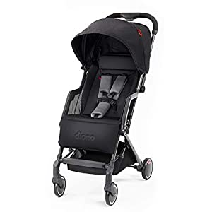 Diono Traverze Compact Luggage-Style Stroller, Black Cube   7