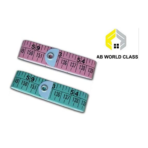 AB WORLD CLASS Plastic Measure Soft Cloth Measuring Tape Weight Loss Medical Body Measurement Sewing Tailor (60-Inch, Multicolour) -2 Pieces