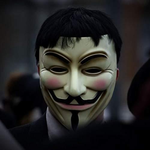 EqWong Máscaras Halloween Adultos Anonymous Hacker