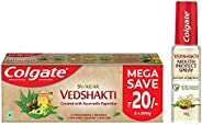 Colgate Vedshakti Toothpaste - 400gmand Colgate Vedshakti Mouth Protect Spray - 10gm