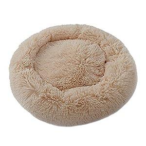 Loopunk - Panier rond pour chien et chat en peluche douce et confortable pour dormir en hiver