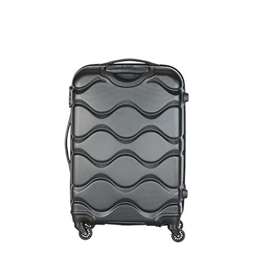 Kamiliant by American Tourister Kam Onda ABS 68 cms Black Hardsided Check in Luggage  KAM ONDA SP Medium Size  Black