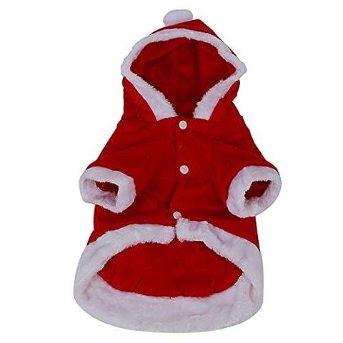 TOOGOO(R) Chien Costumes Noel Ange Aile Chien Veste costume de