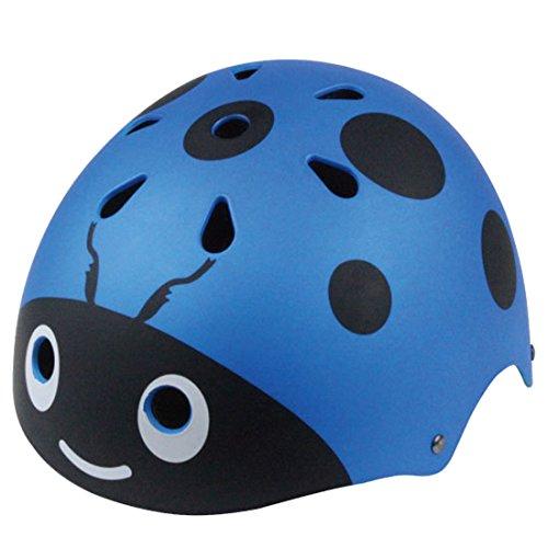 YxFlower Protektoren Helm Kinder, Cartoon 3D Marienkäfer Skaterhelm Fahrradhelm Kinder 5 Jahre
