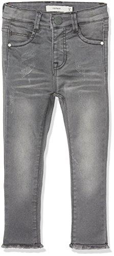 NAME IT Baby-Mädchen Jeans Nittelsy Skinny Dnm Pant Mini Noos, Grau (Dark Grey Denim), 98