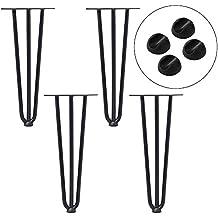sailun® Juego de 4pelo Aguja 3barras patas metal Hairpin mesa piernas Negro El Siglo Mediados vorgesetzte doble soldadura Acero diseño–disponible en 20cm hasta 71cm de altura