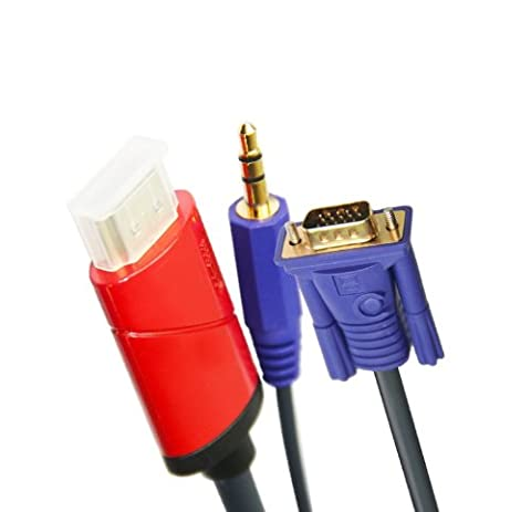 2m HDMI mit Audio Converter VGA - Schließen Sie Ihre HDMI-Gerät bis zu einer VGA-Anschluss mit Audio - Unterstützt Full HD 1080p und ist HDCP -konform * Keine externe Stromversorgung erforderlich *
