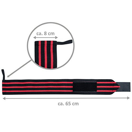 Ultrasport-wrist-wrap-2-pieces-blackred-unisex-weight-gloves-for-bodybuilding-weight-training-power-lifting-or-CrossFit