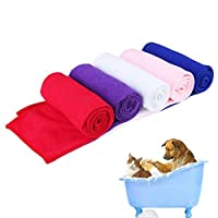 Walkretynbe Towel Soft Fast Drying Pet Puppy Dog Cat Microfiber Bath Towel Water Absorption Dog Accessories Home Equipment Practical Home Supplies