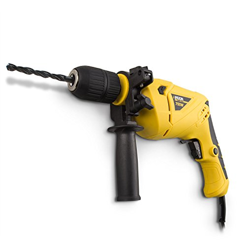 Argon Power Tools 46236 - Taladro percutor (potencia 750W, 0-3000 RPM) color amarillo