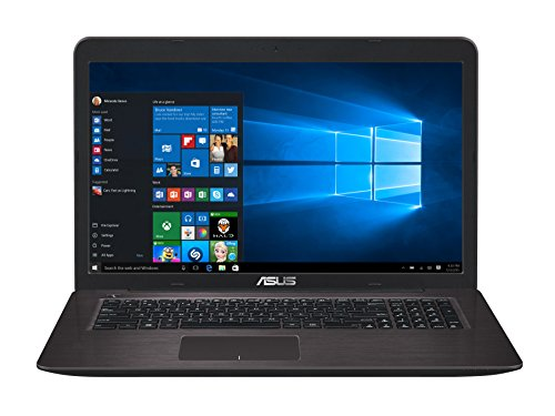Asus F756UQ-TY145T 43,9 cm (17,3 Zoll) Notebook (Intel Core i5-7200U, 8GB RAM, 128GB SSD, 1TB HDD, NVIDIA GeForce 940MX, DVD-Laufwerk, Win 10 Home) dunkelbraun