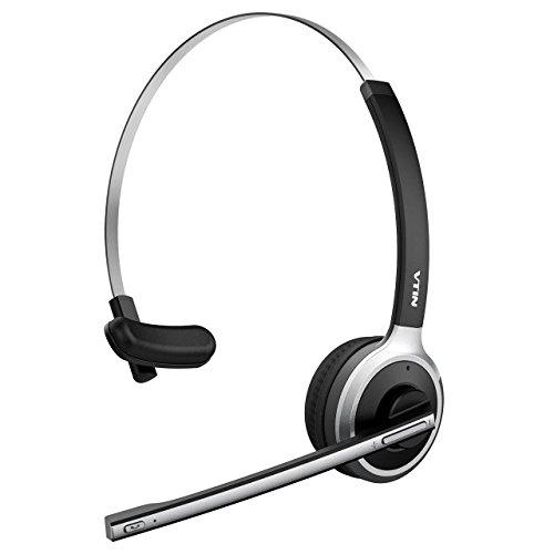 VTIN Chat Headset, Wireless Headset Bluetooth headset Headset mit Mikrofon, Freisprechfunktion, Rauschunterdrücku, Headset on Ear, Headphone für PC,Computer, Handy, VoIP, Skype, Büro, LKW, Auto usw