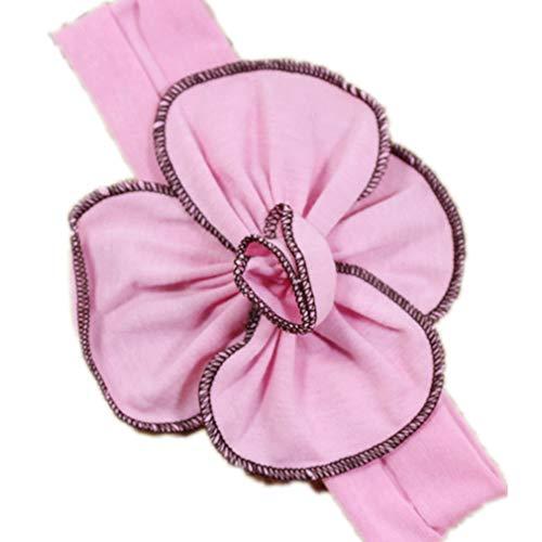FAVOLOOK Baby Mädchen Baumwolltuch elastisches Stirnband Blume Haarband Headwear Haarschmuck für Fotos Fotografie Requisiten Geburtstagsfeier von TheBigThumb, Rosa