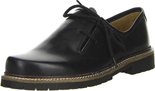 Vista Damen Herren Haferlschuhe Trachtenschuhe Echtleder schwarz, Größe:41;Farbe:Schwarz