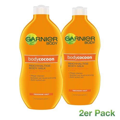 Garnier Body Feuchtigkeitscreme Body Cocoon/reichhaltige Body-Milk, 2er Pack (2 x 400 ml)