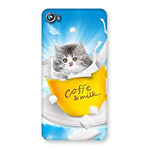 Impressive Coffee Kitty Back Case Cover for Micromax Canvas Fire 4 A107