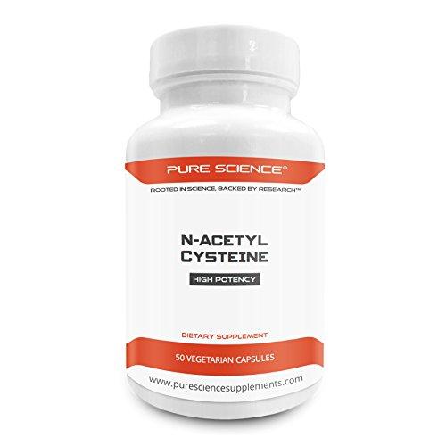 41b3YoYeDKL. SS500  - Pure Science N-Acetyl Cysteine 700mg - 50 Vegetarian Capsules