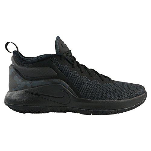 Nike Herren LeBron Witness II Schwarz Textil/Synthetik Sneaker 47 (Lebron Schuhe Herren-nike)