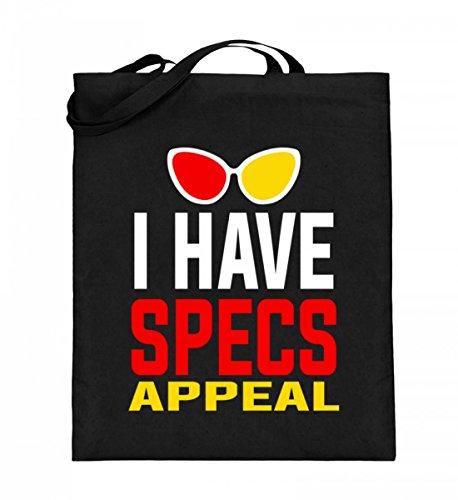 Hochwertiger Jutebeutel (mit langen Henkeln) - I Have Specs Appeal - Sex Appeal Brille Damen Herren...